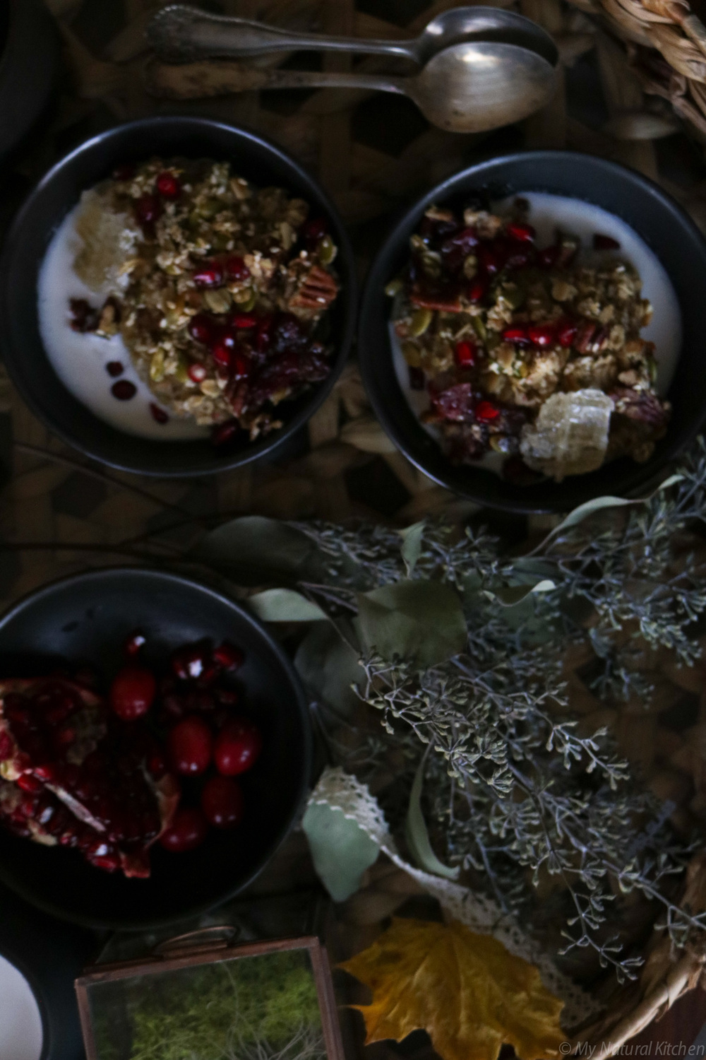 spiced cranberry baked oatmeal + vanilla fig almond milk from my natural kitchen (gluten free and vegan)