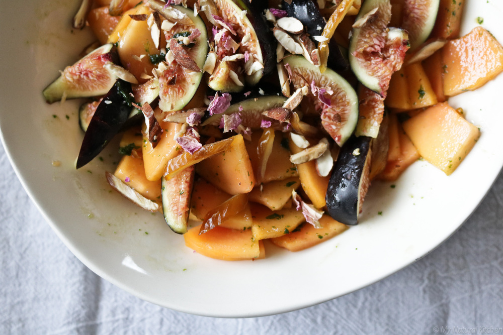 papaya salad with a moroccan twist (gluten free, vegan, paleo) by my natural kitchen