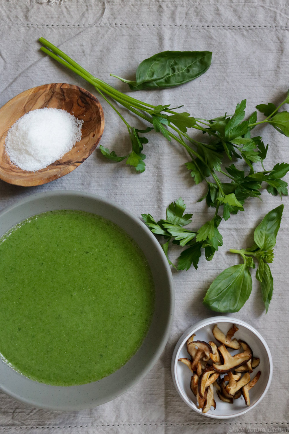 green tahini soup (gluten free, vegan, paleo, candida diet friendly) by my natural kitchen