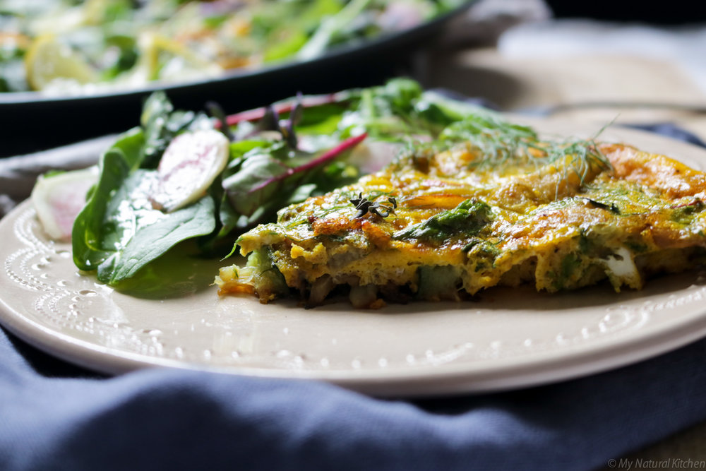 fennel, asparagus and zucchini frittata (gluten free, dairy free, paleo) by My Natural Kitchen