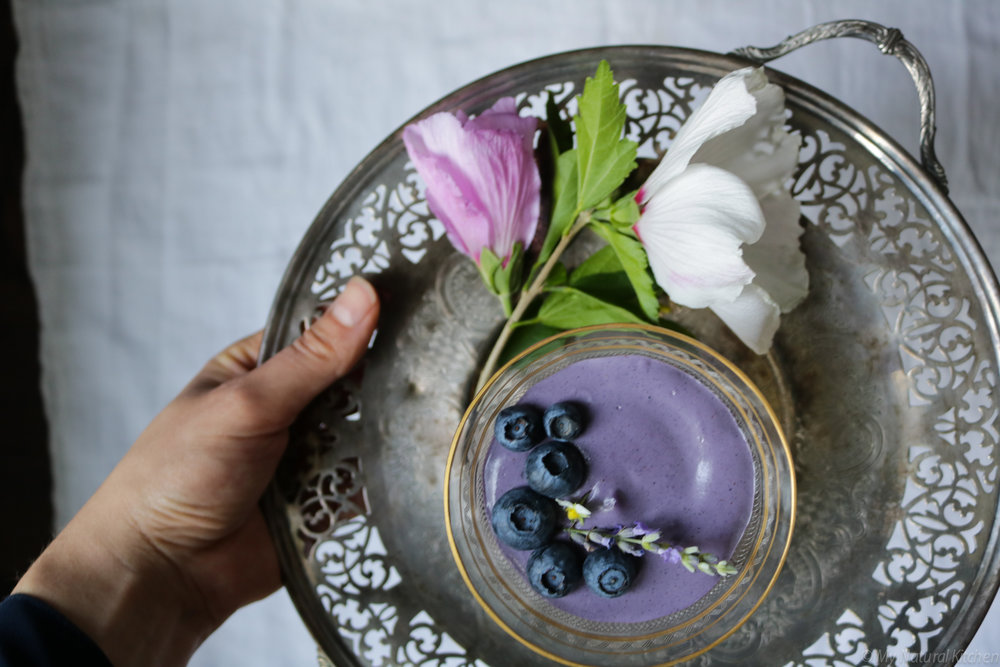 5 ingredient blueberry mousse by my natural kitchen #raw #vegan #glutenfree #paleo