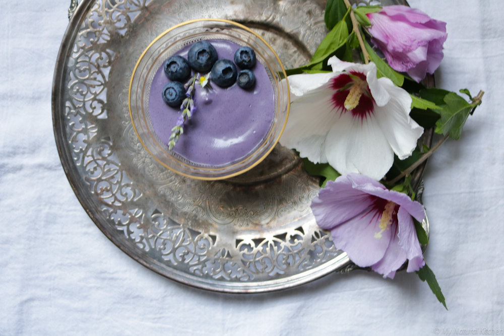 5 ingredient blueberry mousse by my natural kitchen #raw #vegan #glutenfree #paleo #sugarfree