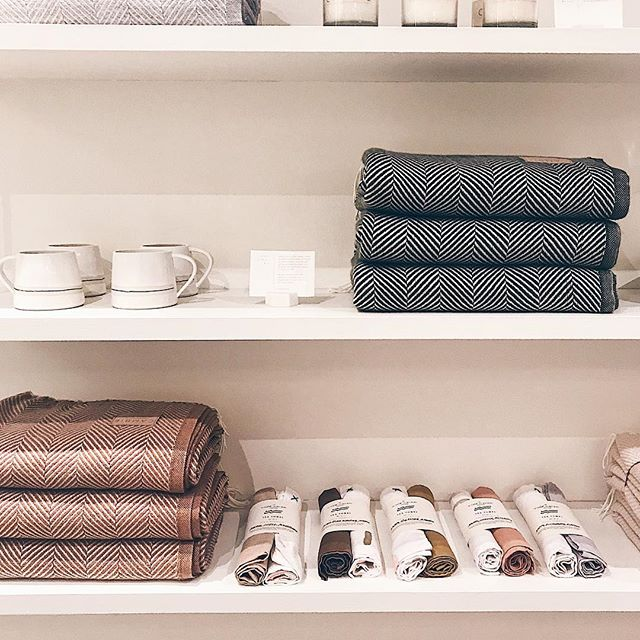 CAMBIE | our tea towels are on the shelves of one of our favourite Toronto shops! so excited to see & eternally grateful for Camille's support ✨ we can't get over how beautiful her holiday blankets and our linen towels look side by side!