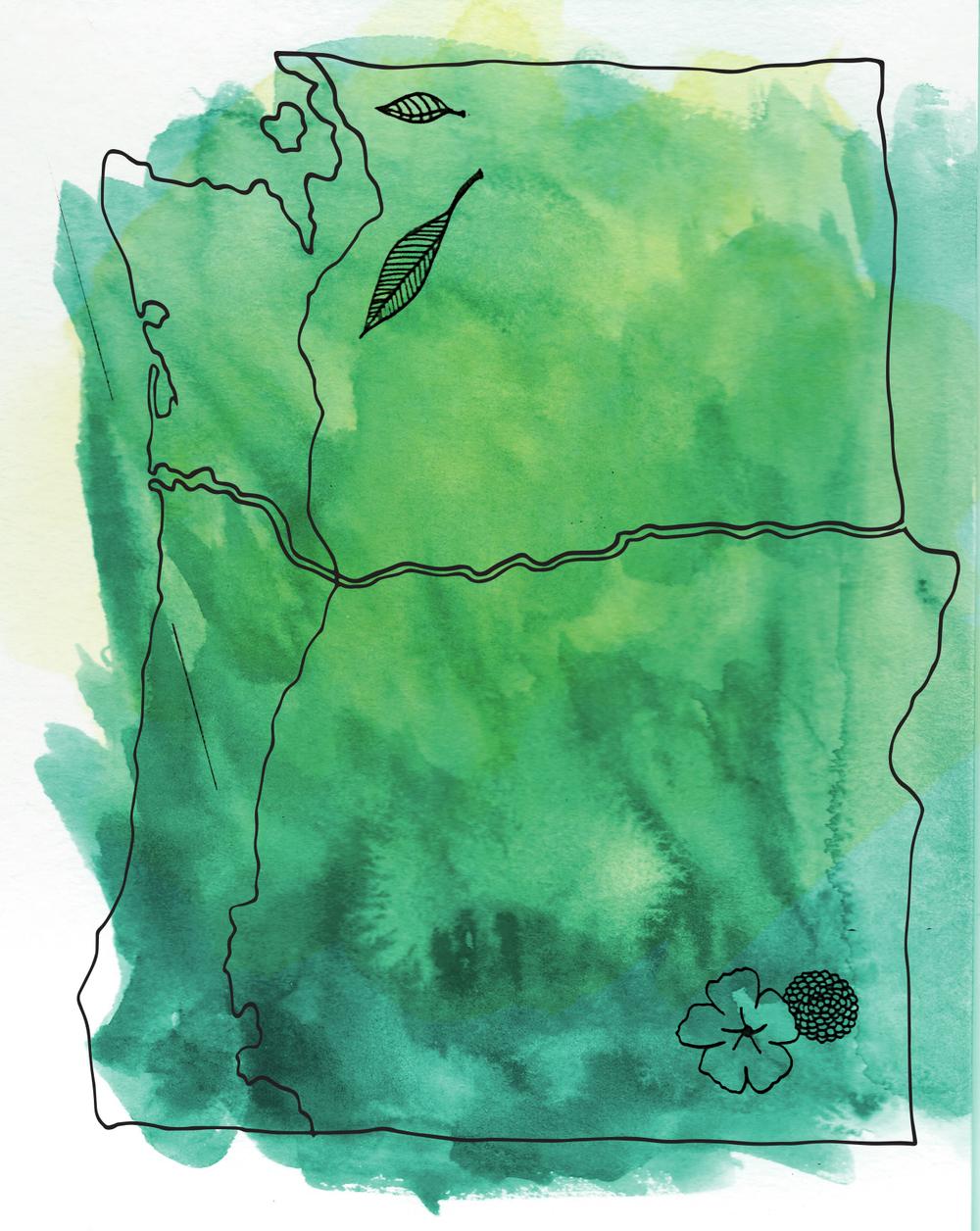"""Illustration created for """"Loving the Upper Left"""""""