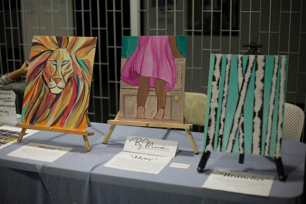 One of my favorite parts about the night was showcasing art. There are many different forms of worship. It's important to remember that our daily life actions are ways of worshiping God. This was even more special to me because my best friend painted these. I love how God used both of our ministries to create such a powerful event.