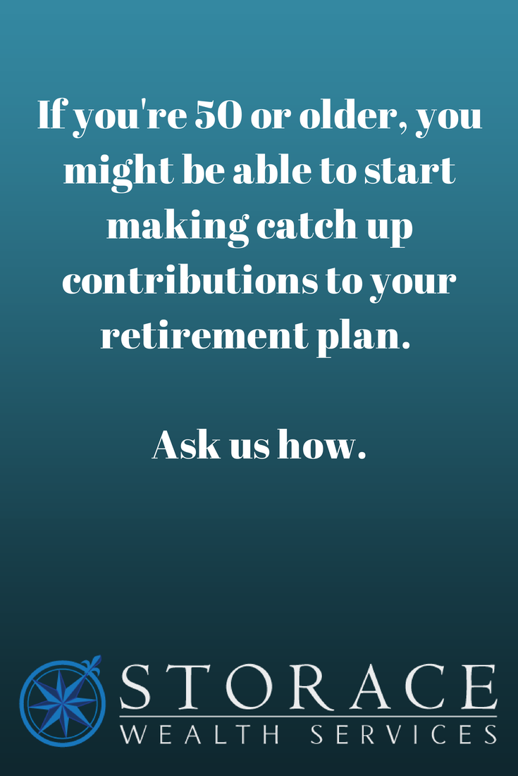 MAKE CATCH UP CONTRIBUTIONS TO YOUR RETIREMENT PLAN