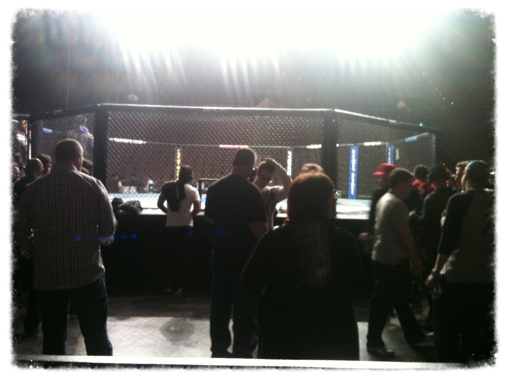 Backstage of UFC weigh-ins