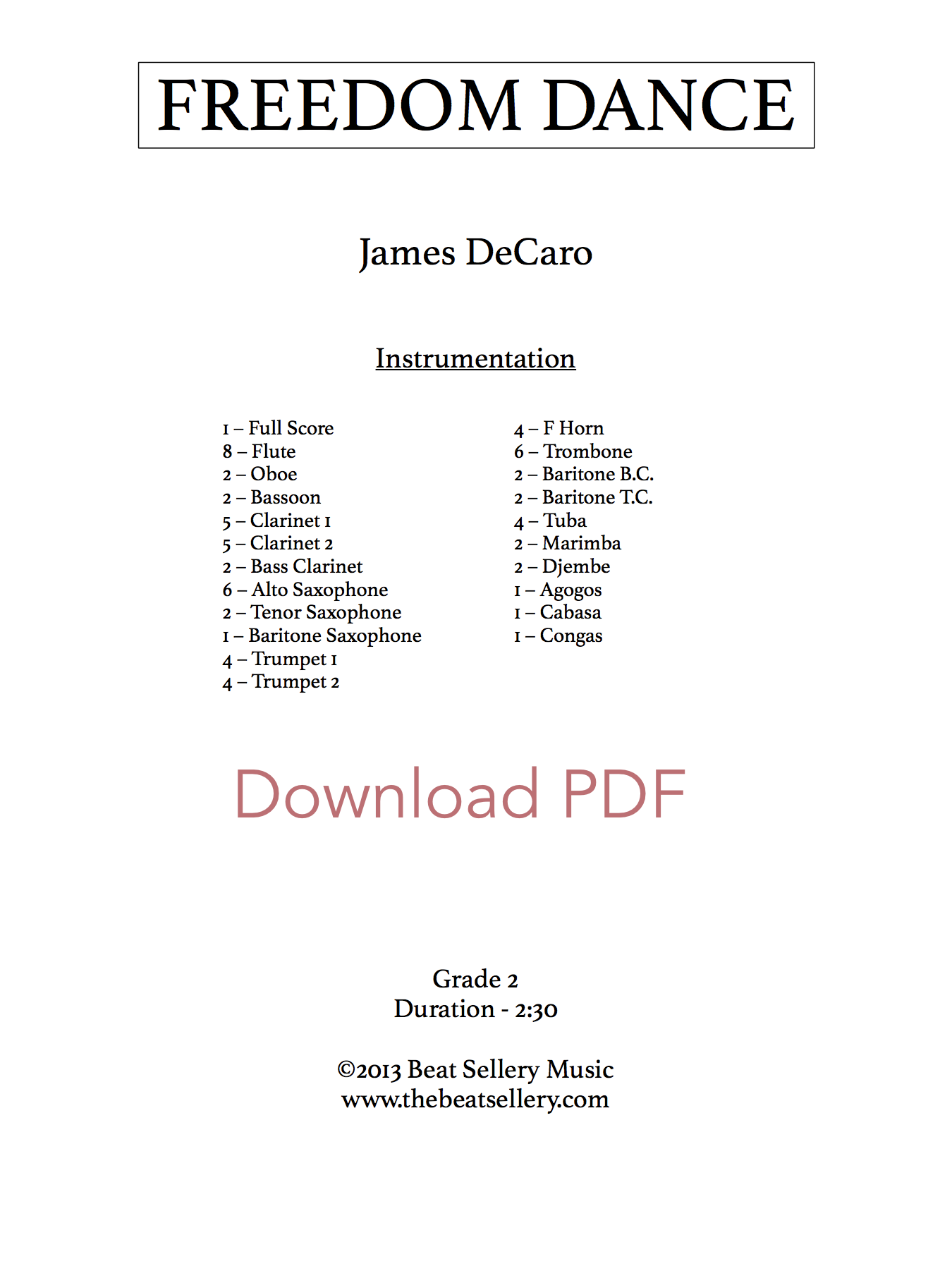 Freedom Dance - Download PDF