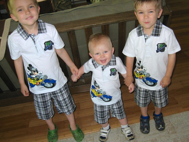 Mickey triplets