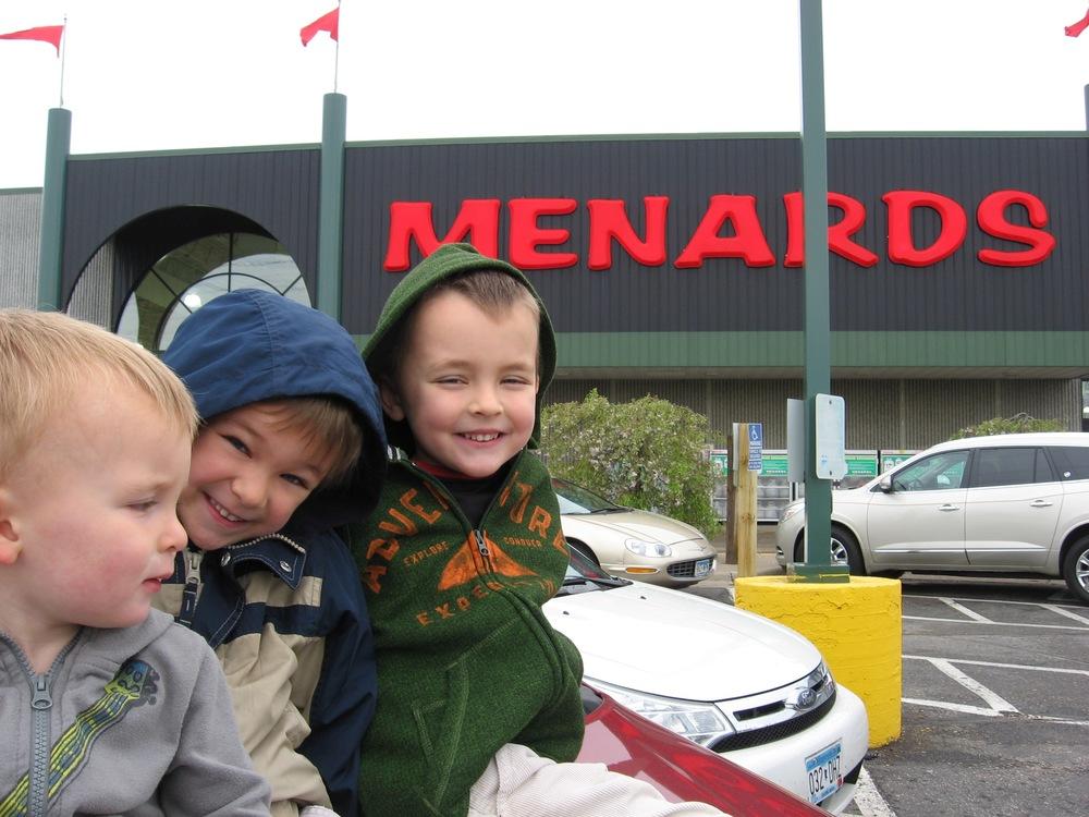Julie: here's Menard's!