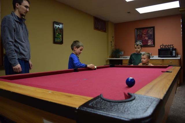 Billiard Boys at the Cabin in the Dells