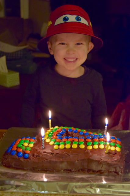 Tad is 4!