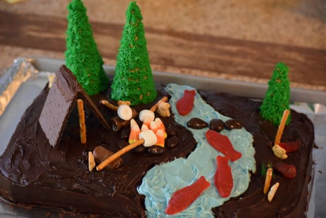 Camping Story Cake