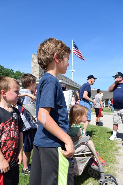 Historic Fort Snelling, flag raising