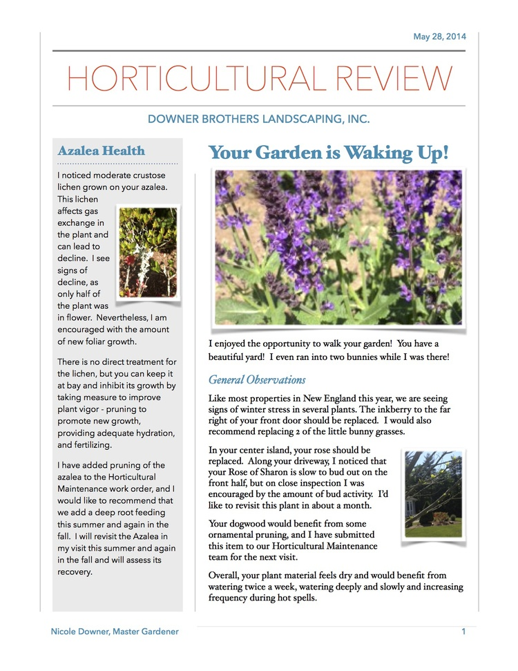 Horticutural Review 05.28.2014
