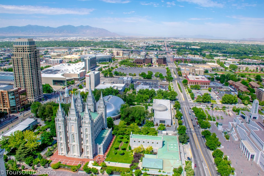 Salt Lake City observation deck view
