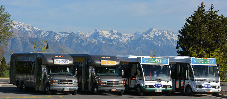 Sightseeing bus tours in Salt Lake City Utah
