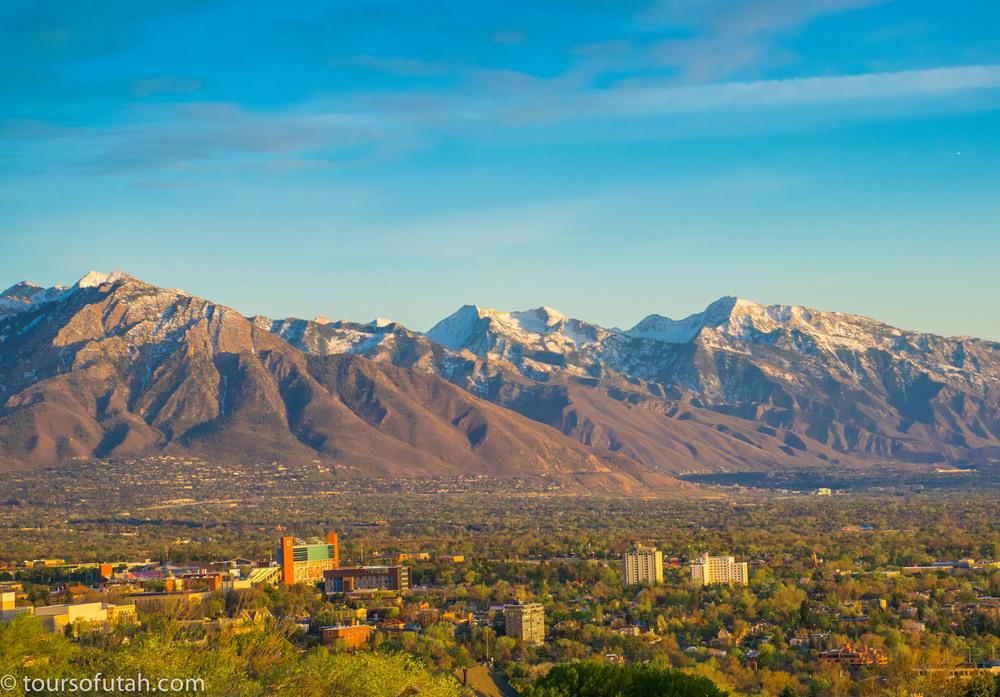 Salt Lake City Overlook on Sightseeing Bus Tour