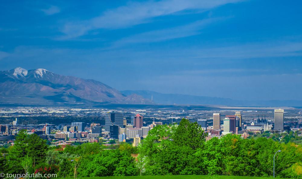 Lookout Point in Salt Lake City on Utah bus tour