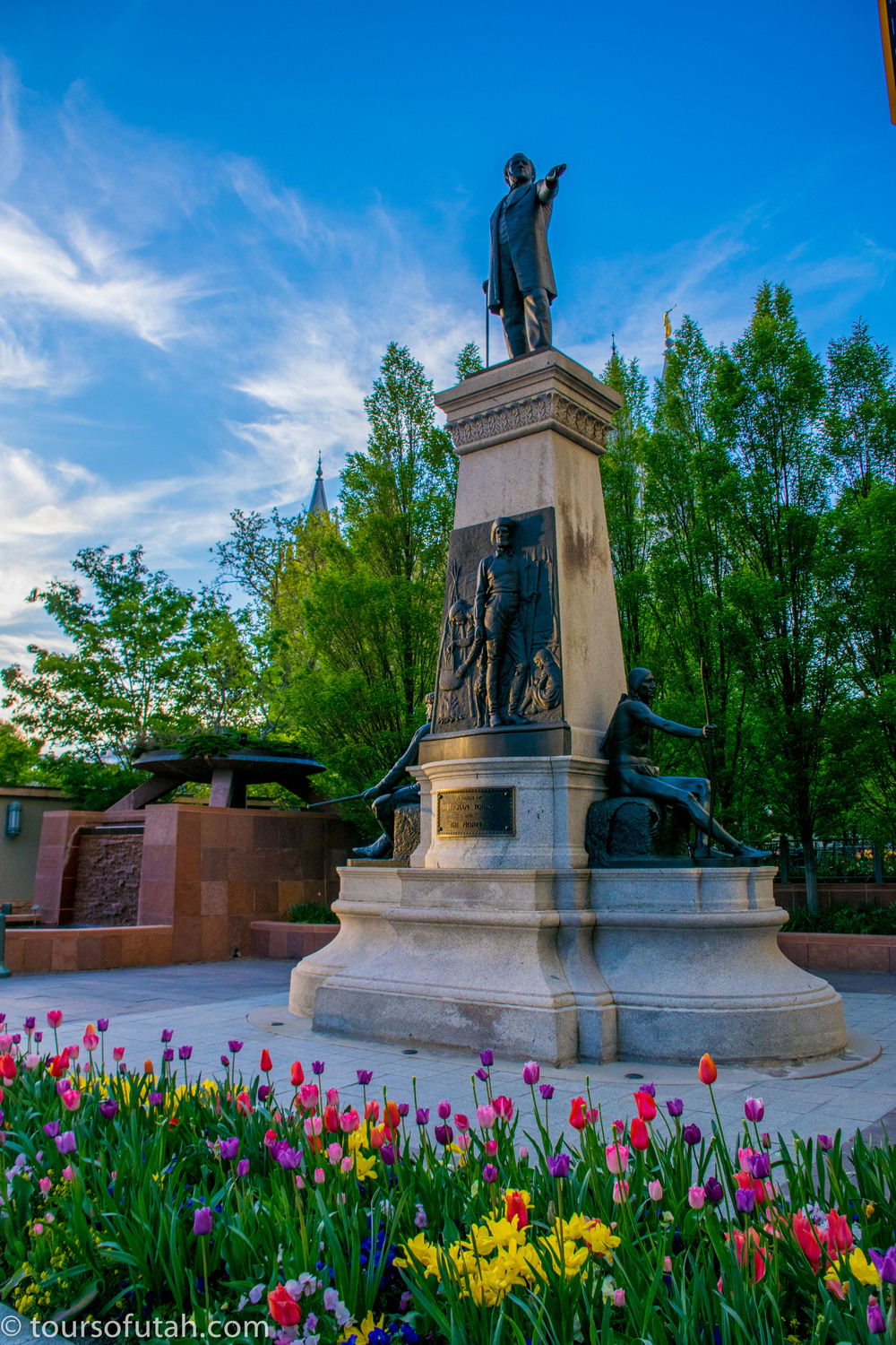 Brigham Young Monument on Salt Lake City Tour