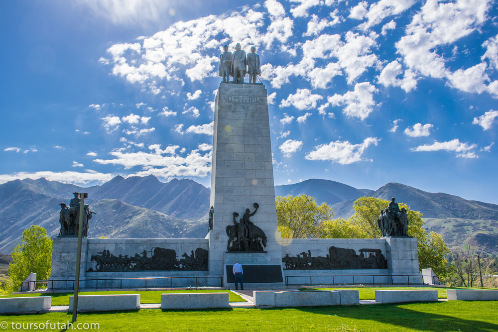 Mormon Historic Monument on Salt Lake City Tour