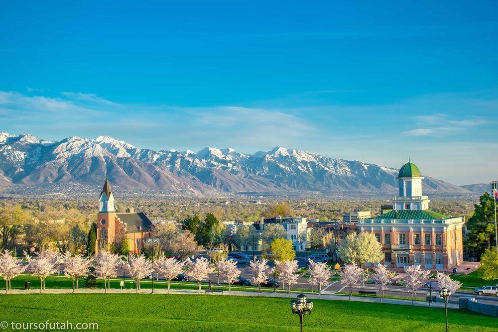 Salt Lake City scenic overlook