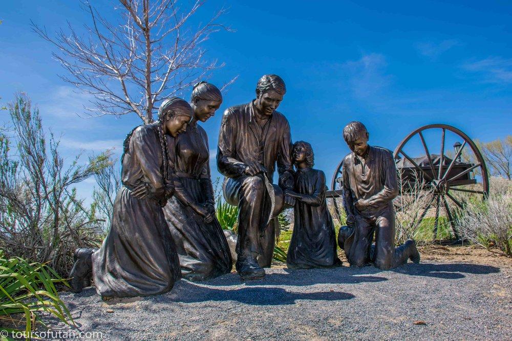 Mormon Pioneer Trail monument