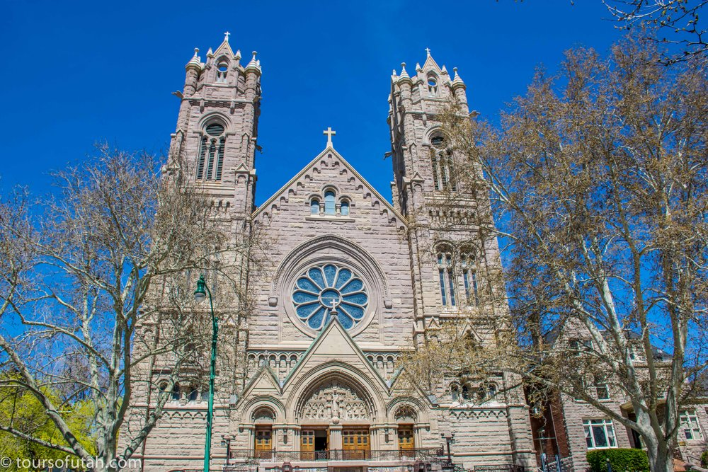 Cathedral of the Madeleine Salt Lake City bus tour.jpg
