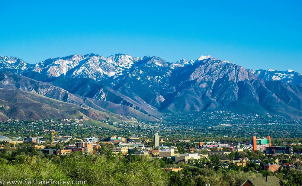 Scenic view of Salt Lake City