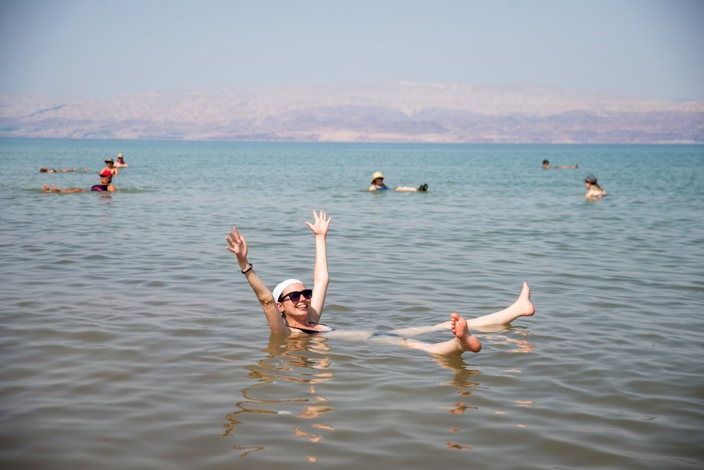 Floating in Great Salt Lake