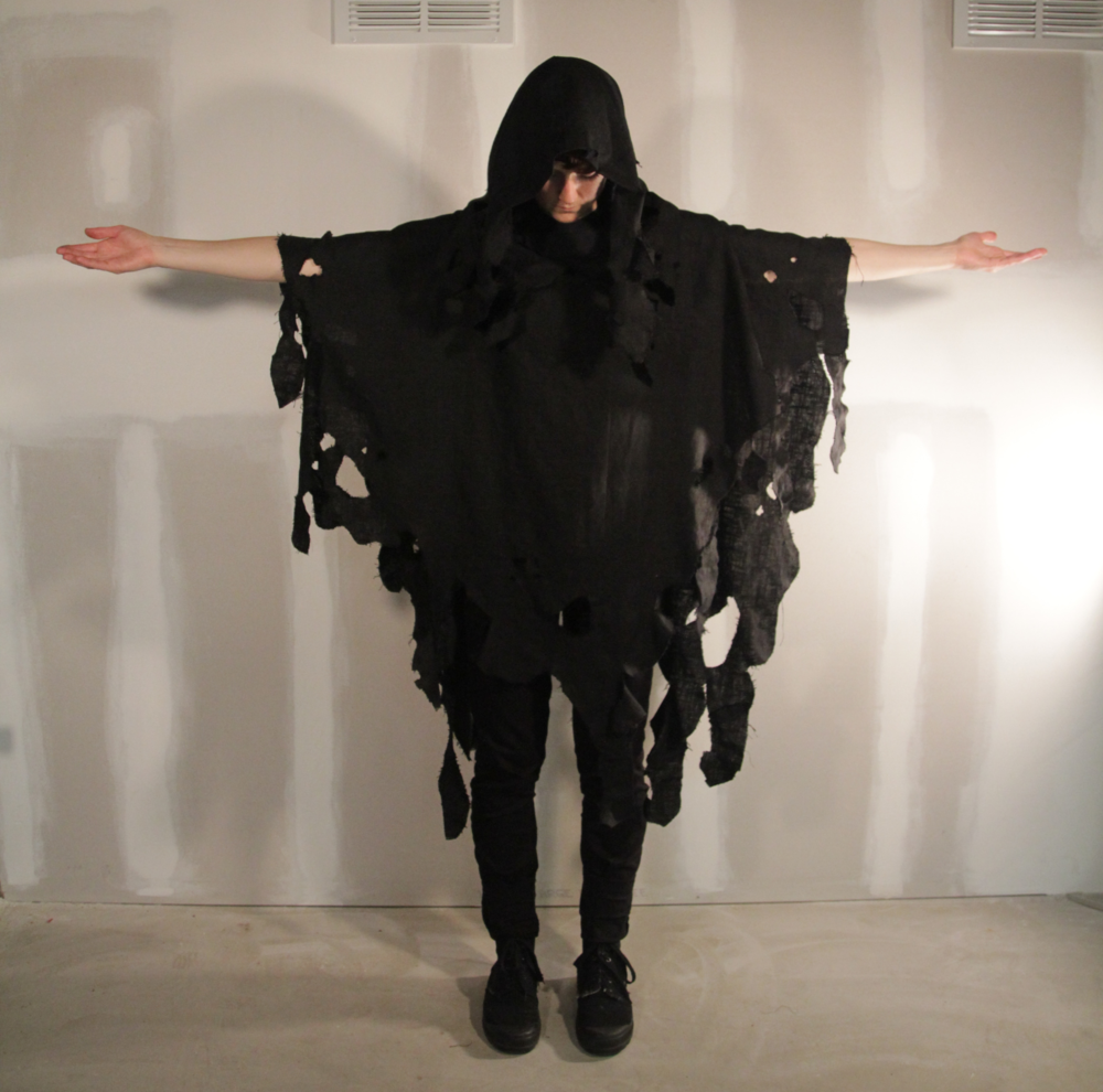 Detail of Matthews' robe design, featured in the video above, 2013.