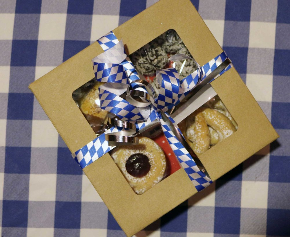 20 pc home-made bavarian christmas cookies $18 Get it at PAULANER