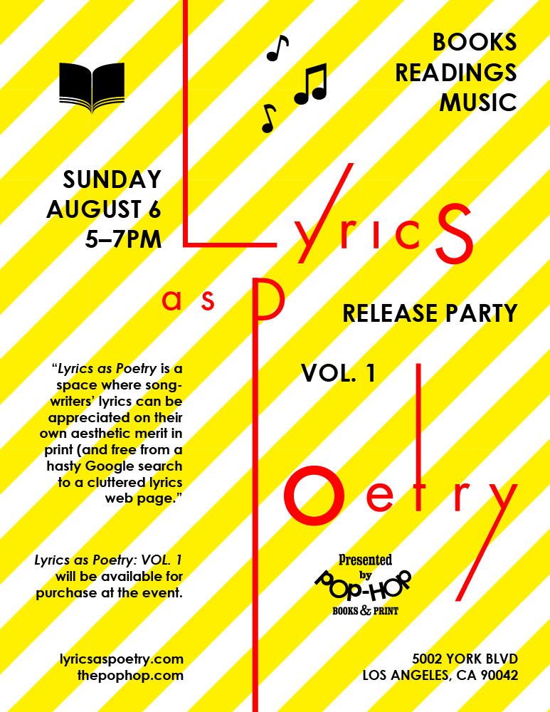 LYRICS AS POETRY: RELEASE PARTY - 08/06/2017