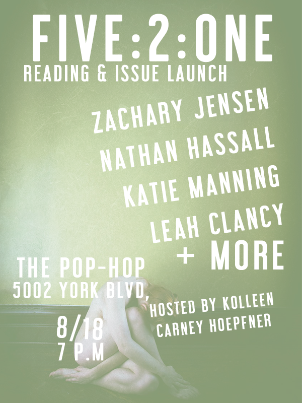 FIVE:2:ONE Reading & Issue Launch - 08/18/18