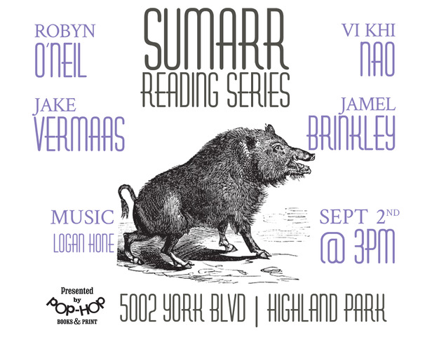 SUMARR IV - Reading Series - 09/02/18