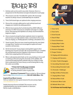 Vocal Warm Ups Technical Exercises for Kids Digital eBook The