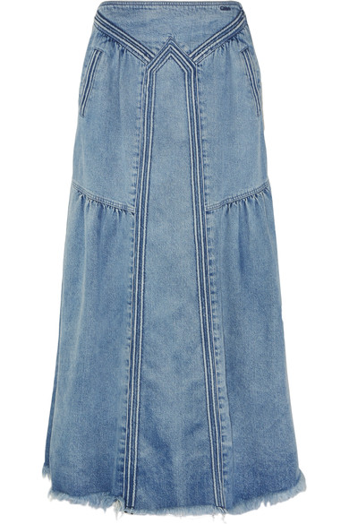 Denim maxi skirt - Chloe - Netaporter