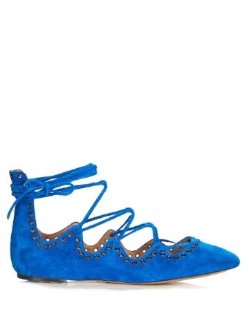 Eyelet ballet shoe