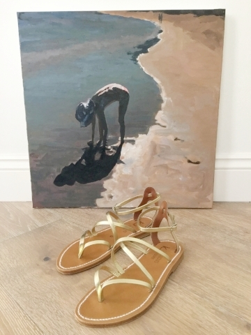 painting and sandals