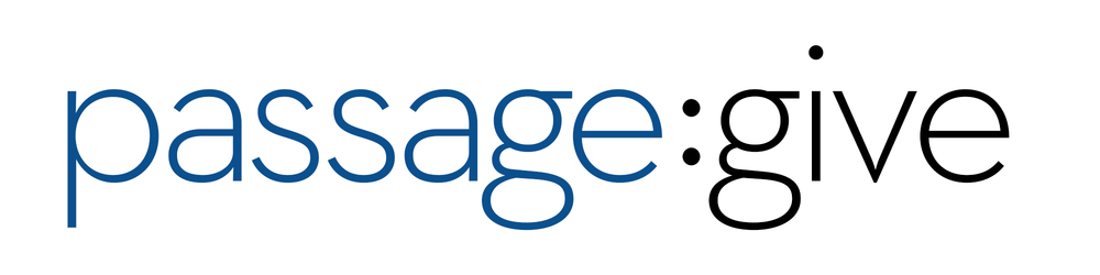 Passage Give Logo: White Background