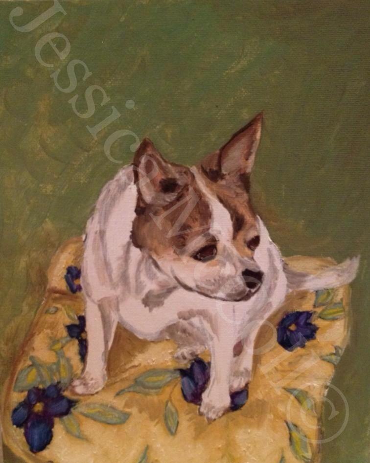 "Jessica McColl,    Pip (2012-2014),    Oil on Canvas board,    8x10"",    Photo courtesy       of the artist"