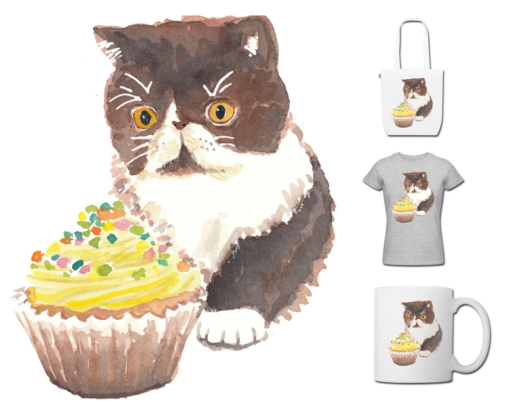 Head to our  shop  now to get yourself some kitty cupcake goodness!