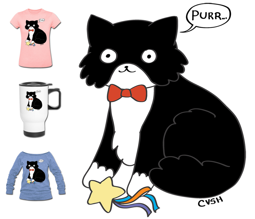 Click here to get your Cat Versus Human tux kitty merch now
