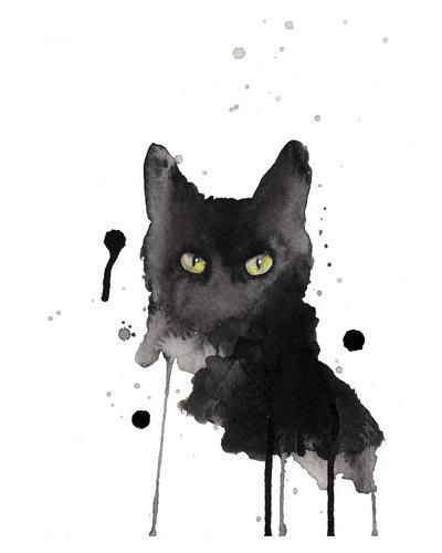 Black cat by  artillia