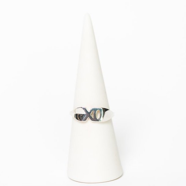 The XO Mini Ring, a sweet little statement to make your everyday just a little cuter  Ready to ship for the holidays