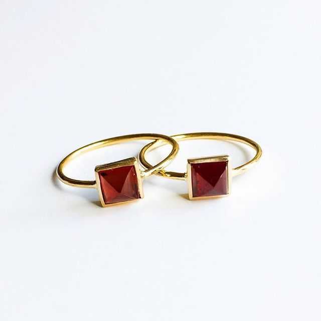 Matching Garnet and 18K Gold Rings I made for me and my sister ❤️ All kinds of love deserve to be celebrated so make this day about loving whatever you want!  #happyvalentinesday