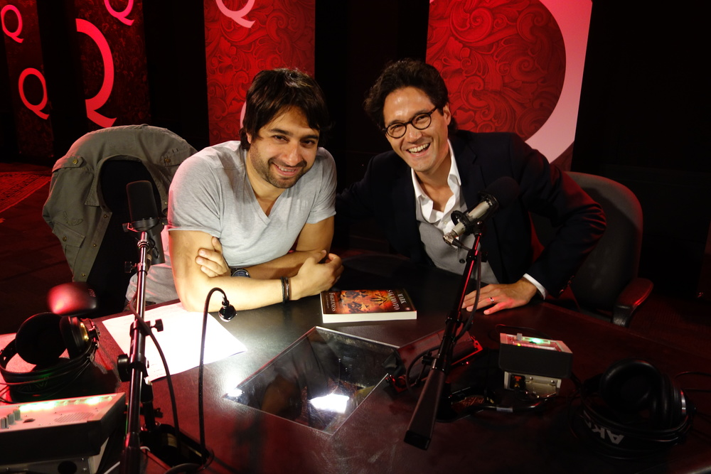 Click on image to open Q with Jian Ghomeshi in a new window, or listen to the recording below.