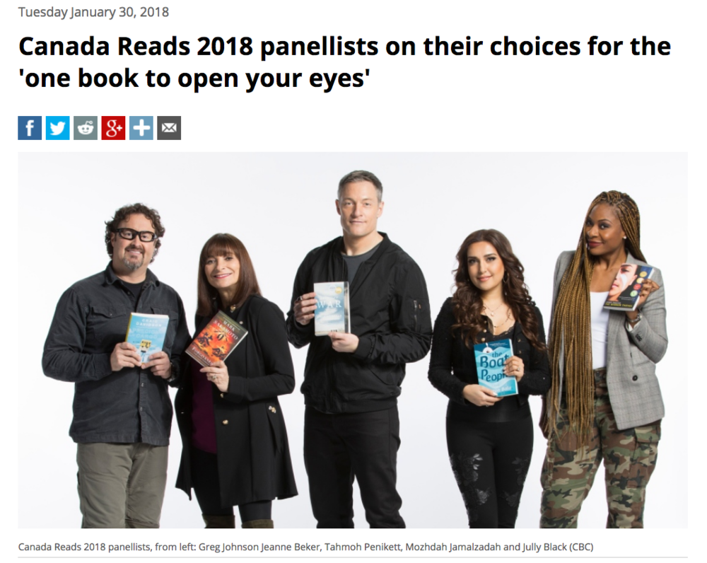 Listen here.  The three-day  Canada Reads 2018 finale takes place March 26-29  and will be broadcast across CBC platforms.