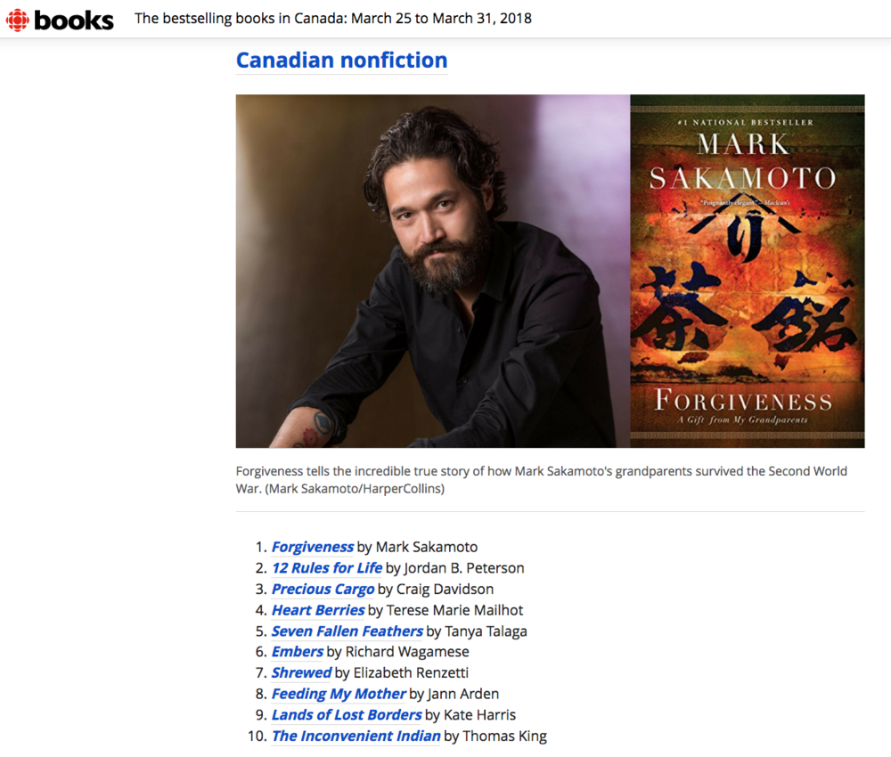 #1 in Canadian nonfiction