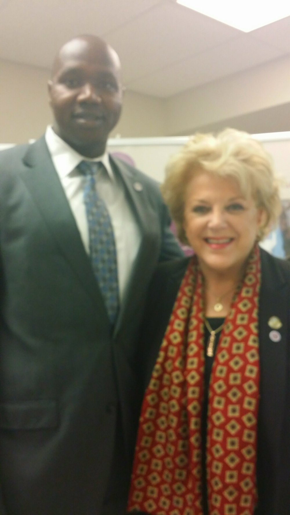 With the Mayor of Las Vegas Carolyn Goodman at the Catholic Charities Strategy Insights Workshop 4.8.16